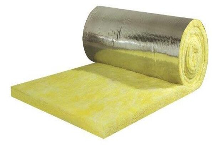 Glass wool roll with FSK Facing