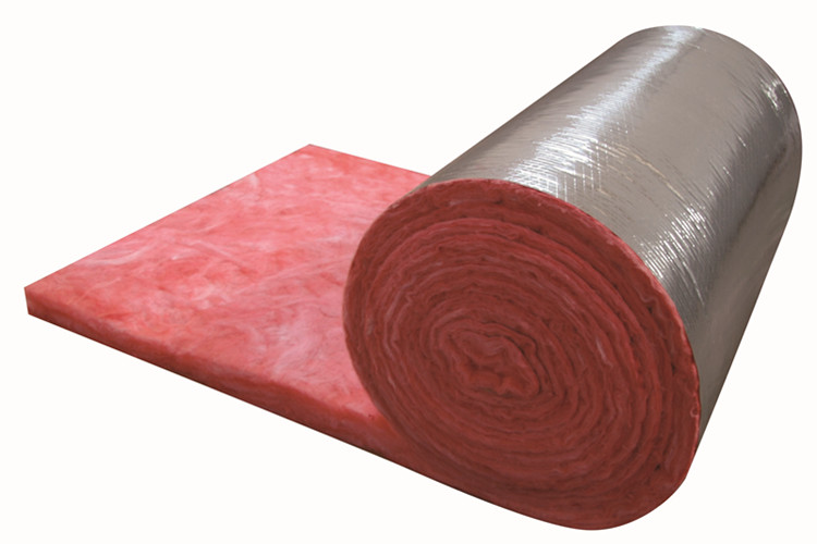 Red pink colorful fiber glass wool blanket with fire proof facing