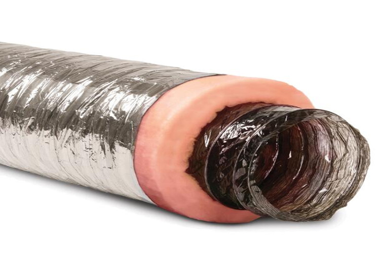 Flex pink fiberglass wool air duct wrap
