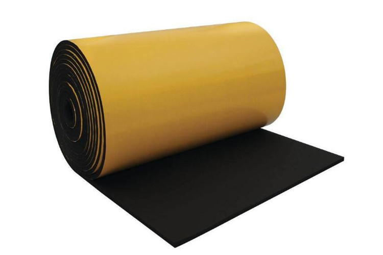 One side adhesive rubber foam insulation blanket