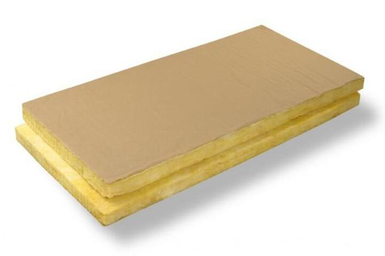 Glass wool batt cover with kraft paper
