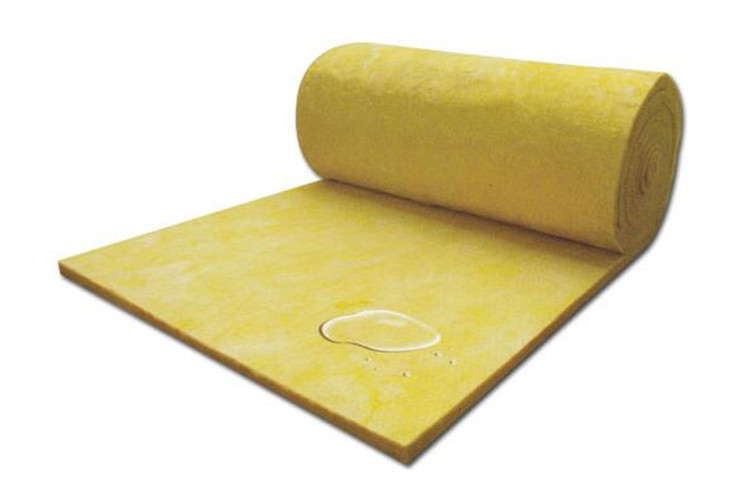 Hydrophobic glass wool blanket